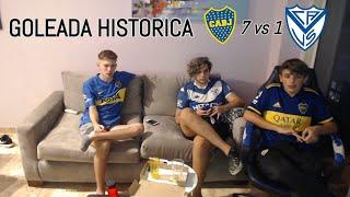 Velez Sarfield 1 vs Boca Juniors 7   Reacciones de Hinchas   Liga Profesional de Futbol