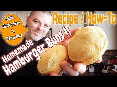 Gluten Free Dairy Free Hamburger Bun Recipe
