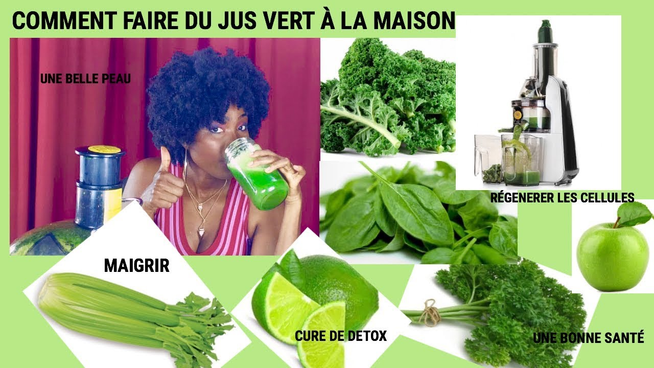 comment faire du jus vert la maison cure detox maigrirbonne sant youtube. Black Bedroom Furniture Sets. Home Design Ideas