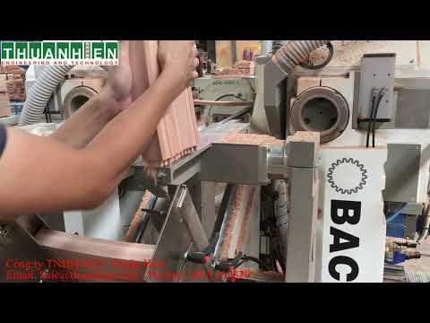 Máy đánh mộng dương 2 đầu CNC BACCI - ITALIA Model: TSD/CFS2- máy chế biến gỗ Thuận Hiền.