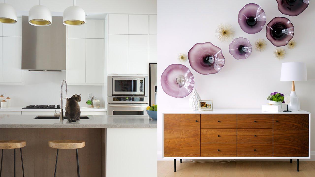 Interior Design A Bright Mid Century Modern Home Youtube