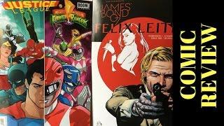 COMIC REVIEW OF JUSTICE LEAGUE/POWER RANGERS #1 & JAMES BOND: FELIX LEITER #1