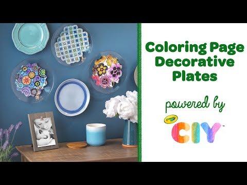 DIY Coloring Page Decorative Plates || Crayola CIY: Create It Yourself