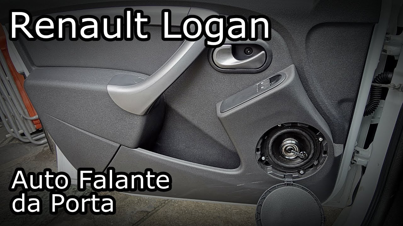 Renault Logan Instala 231 227 O Do Auto Falante Youtube