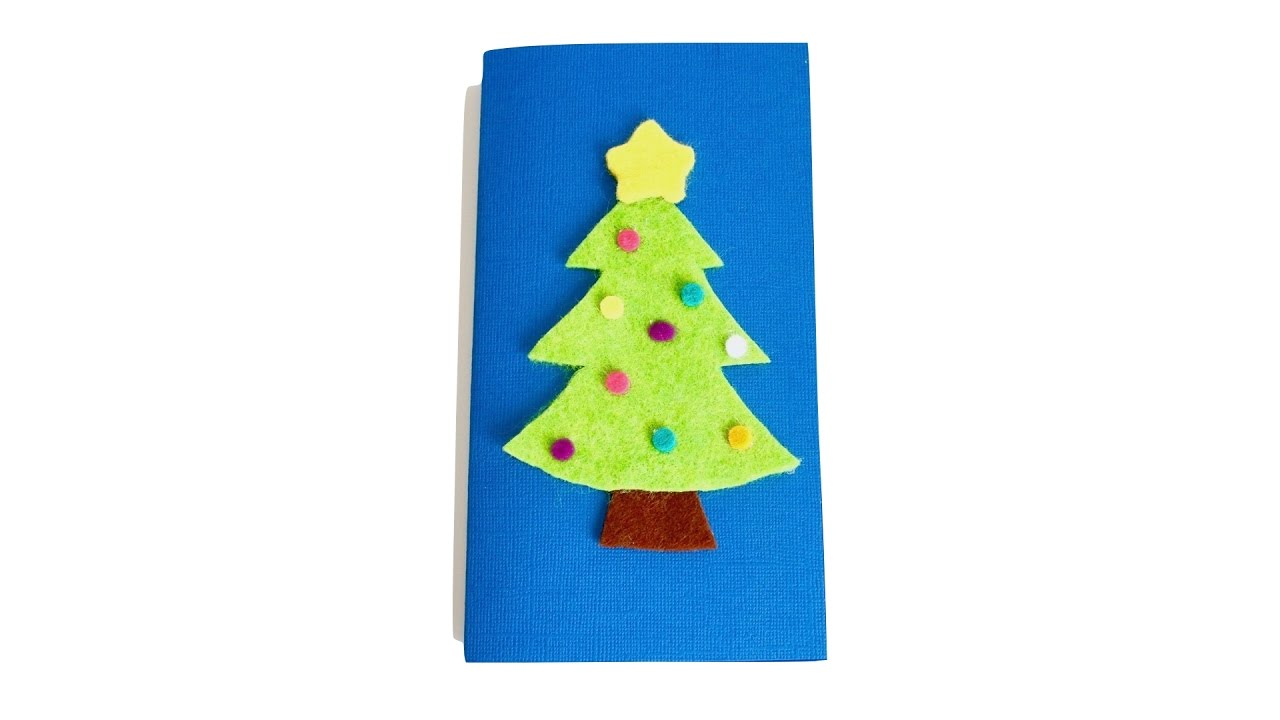 DIY Felt Christmas Card - YouTube