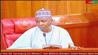 Senate Plenary, 1st March, 2018