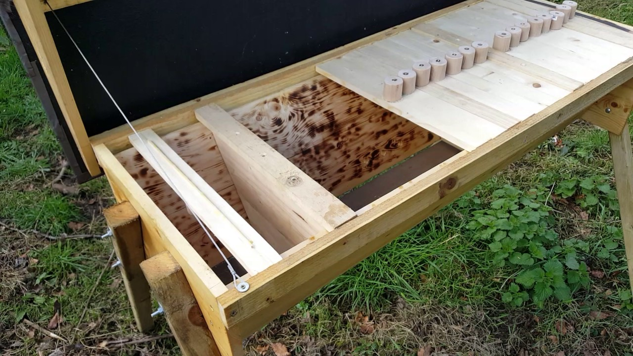 new top bar hive and top bar swarm trap. - YouTube