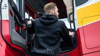 Scania combi scharen in Bodegraven, en alle remmen los in Alphen aan den Rijn!