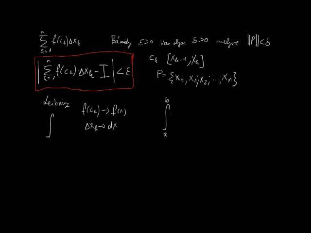A határozott integrál 1