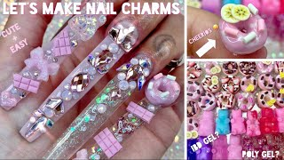 Diy nail charms + h๐w to apply them on | easy | vanity val