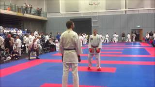 British Four Nations 2013 Karate - Gerard Hart- 1st Round