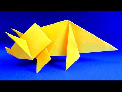 Вопрос: Как сделать бумажного динозавра?