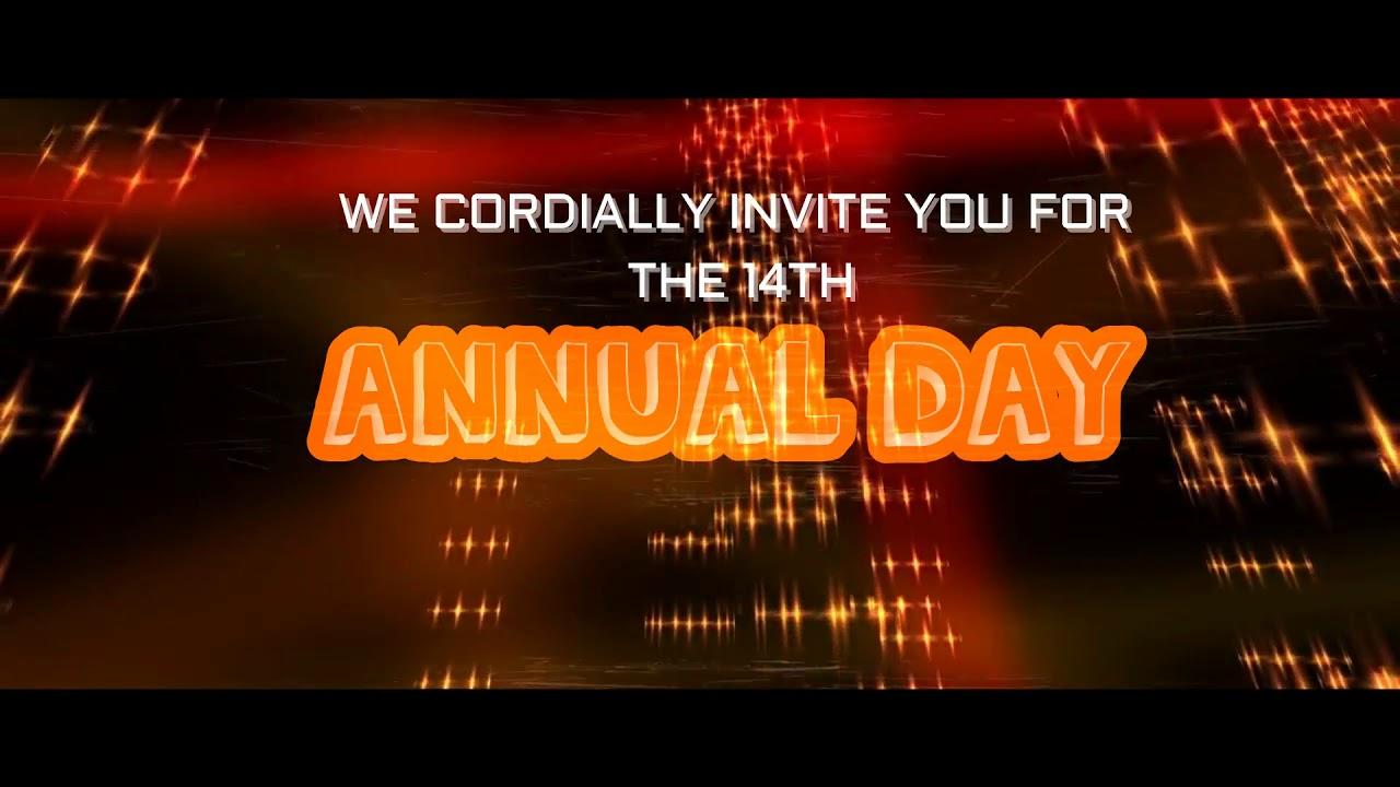 Jmc 14th Annual Day Invitation Card