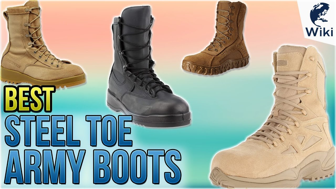 10 Best Steel Toe Army Boots 2018 - YouTube