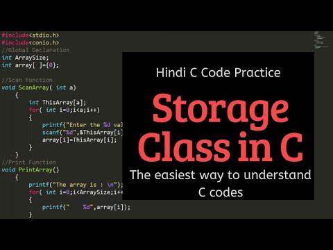 Register Storage Class | C Programming Hindi Tutorials for Beginners thumbnail