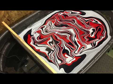 Swirling a Fender style guitar in Red, White and Blue