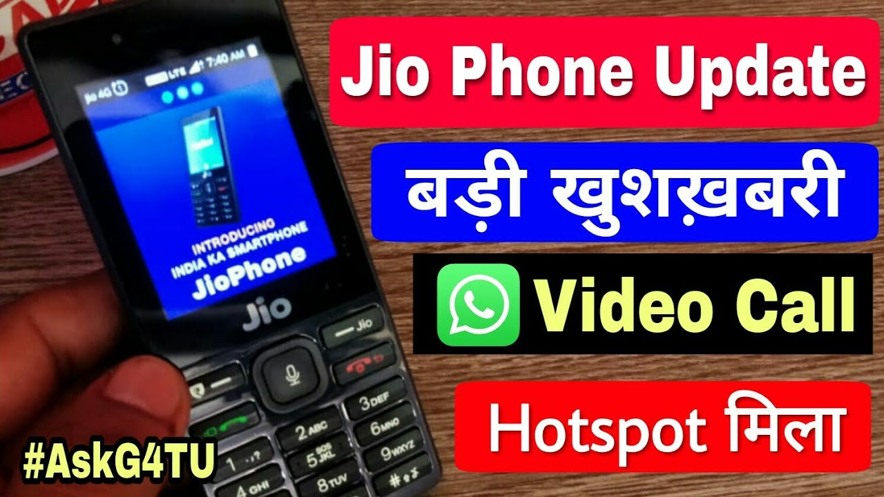 Jio Phone Hotspot, Jio Phone WhatsApp Video Call, My Editing Software,  Phone Under 30k - #AskG4TU 5