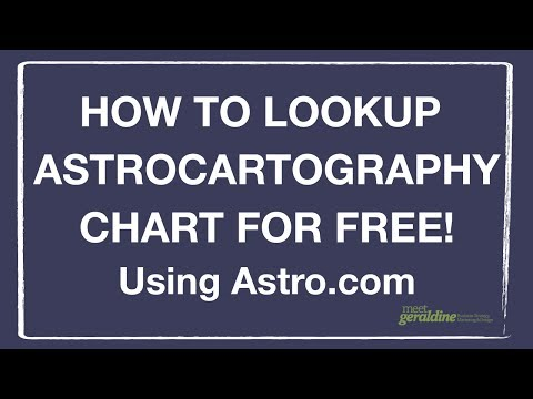 How To Look Up Astrocartography Chart For Free | Where Should You Travel or Move | Tutorial