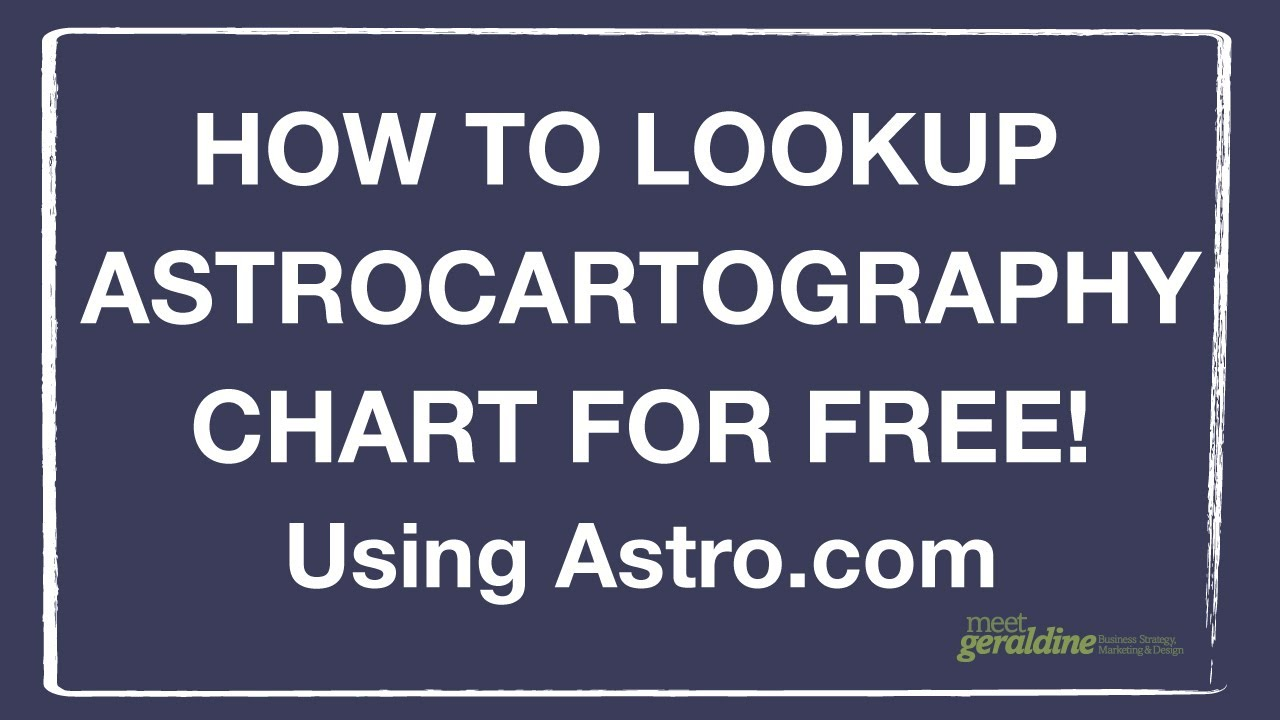 How to look up astrocartography chart for free where should you how to look up astrocartography chart for free where should you travel or move tutorial geenschuldenfo Image collections