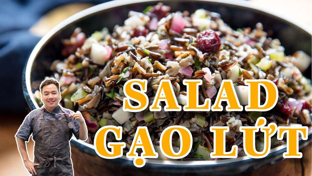 Salad gạo lứt giảm cân | Món ăn giảm cân nhanh | Gạo lức thực phẩm tốt cho giảm cân | Món ăn chay