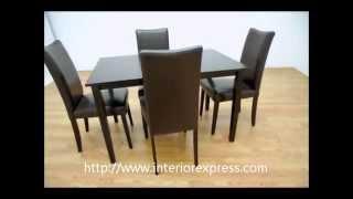 Interiorexpress Berreman Dark Brown 5 Piece Modern Dining Set