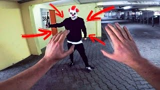 PARKOUR VS KILLER CLOWN - THE REVENGE - PARKOUR POV | GoPro HERO5(Parkour vs Killer Clown - The parkour pov revenge we have all been waiting for! Finally had time to hunt one of those clown down and give him the run of his life ..., 2016-11-18T17:09:33.000Z)