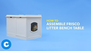 How to Assemble a Frisco Litter Bench Table | Chewy