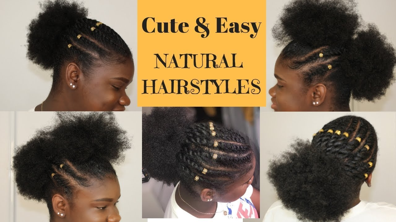 super cute hairstyles for 4c/b natural hair | back to school hairstyles for natural hair | chev b.