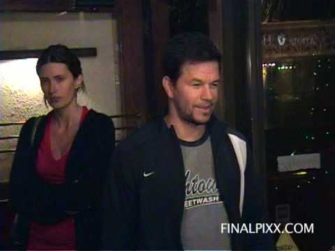 Mark Wahlberg and his partner Rhea Durham dine at Madeo