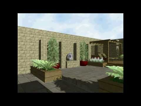 Garden Design Animation & Bespoke Water Feature