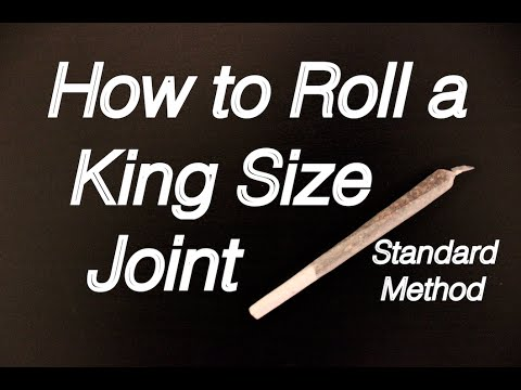 How to roll a King size Joint - Standard Method: Beginners ...