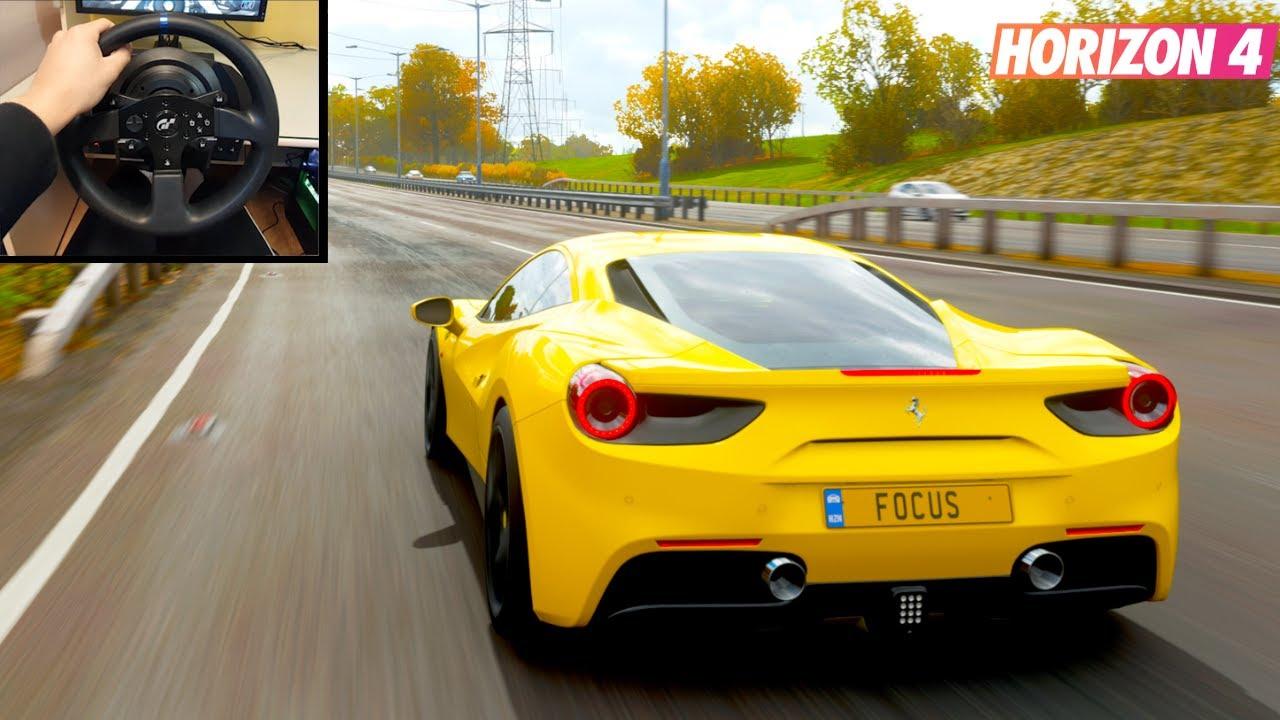 Ferrari 488 GTB - Forza Horizon 4 | Thrustmaster T300RS GT Gameplay