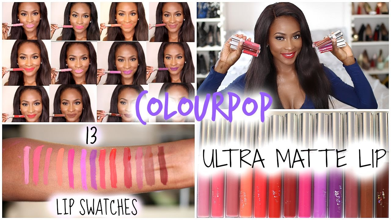 1f1421c019303 COLOURPOP ULTRA MATTE LIP SWATCHES + HOW TO SHIP IT WORLDWIDE - YouTube