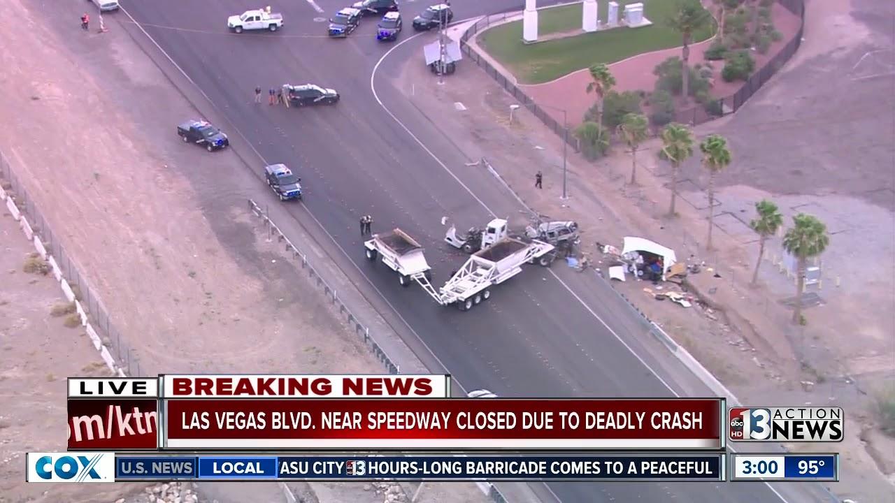 Fatal crash near Las Vega Motor Speedway