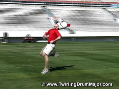 The Twirling Drum Major - Strut Lesson Demonstration