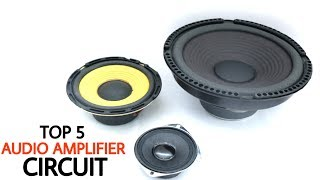 Top 5 Electronics Projects on Audio Amplifier | amplifier circuits