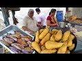 Over Thousands of People Eating Brinjal Bajji Everyday | Indian Breakfast | Street Food Guntur