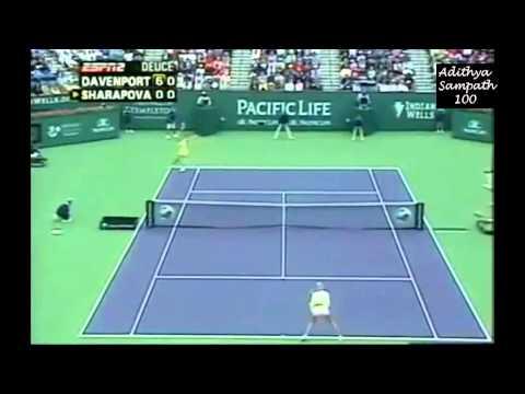 Sharapova vs Davenport Indian Wells 2005 Highlights