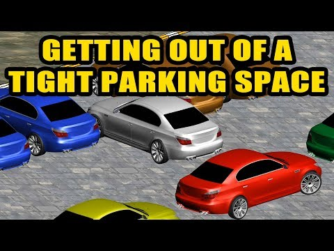 How to get out of a cramped parking lot?