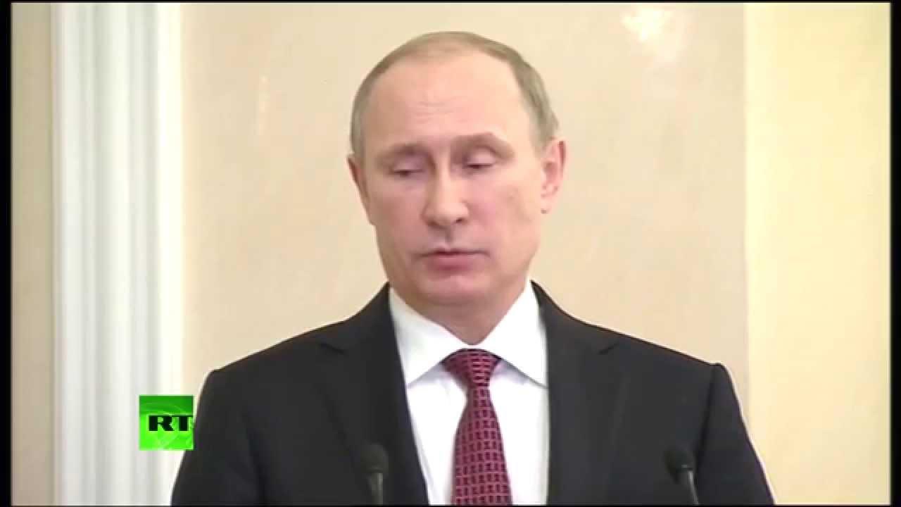 Владимир Путин об итогах переговоров в Минске 12 февраля