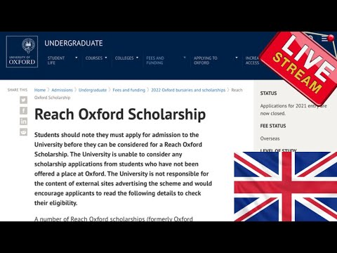 Reach Oxford Scholarships for Developing Countries (UK Scholarships for international students)