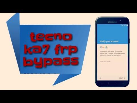 Tecno KA7 Remove Google Account (Frp Lock) Android 8 1 0 by