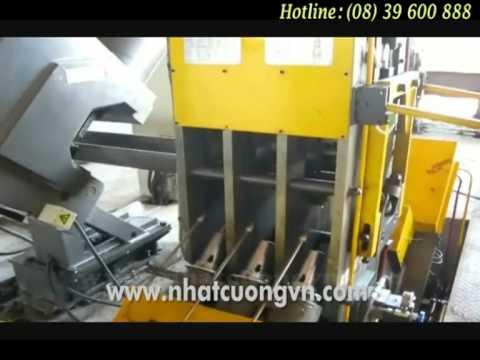 Máy Khoan và Đóng Mác Thép - CNC Drilling & Marking For V-angle.mpg