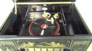 Edison Bell Chinese Cabinet Gramophone