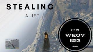 Stealing a jet!  GTAV
