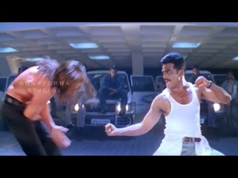 Rahul Dev Action Scene || Mass Movie || Nagarjuna, Jyothika
