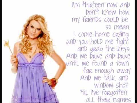 Taylor Swift - The Best Day with lyrics