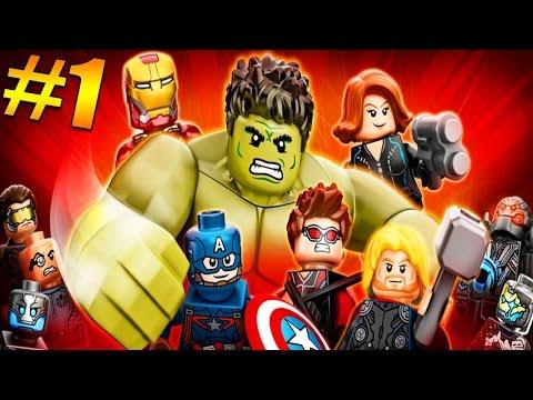 LEGO AVENGERS Walkthrough Part 1 W/ Girlfriend: Meet The Avengers - Lego Avengers Gameplay (LEGO)