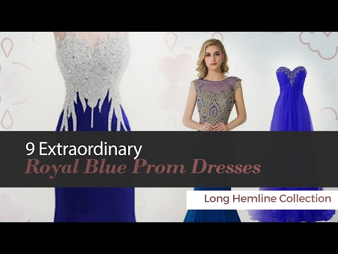 9 Extraordinary Royal Blue Prom Dresses Long Hemline Collection