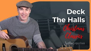Deck The Halls Guitar Lesson Tutorial Christmas Carol Easy Chords